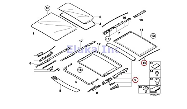 Amazon Com Bmw Genuine Front Rear Sunroof Repair Kit For Sunroof