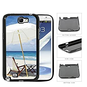 Beach Chair And Umbrella Hard Plastic Snap On Cell Phone Case Samsung Galaxy Note 2 II N7100