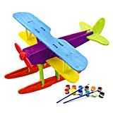 HYDROPLANE 3D Jigsaw Puzzle for Kids, Adult Puzzles, DIY Model Kids Paint Toy, Children's Gift, Brain Teaser, Wooden Puzzle.