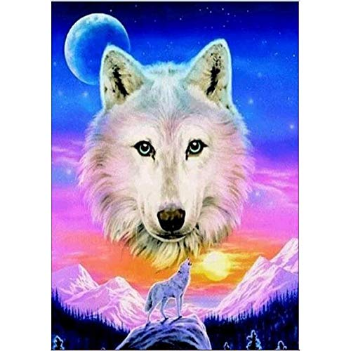 QHB Diamond Painting 5D Rhinestone Pasted Embroidery Animal Painting Cross Stitch Home Decor (E) -