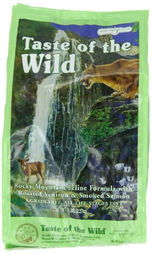 Taste of the Wild Dry Cat Food, Rocky Mountain Feline Formula with Roasted Venison and Smoked Salmon, 5 Pound Bag, My Pet Supplies