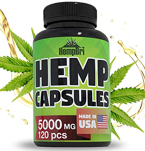 (Hemp Oil Extract Capsules for Pain Relief & Anxiety Best Joint Support Your Health & Sleep Supplement Pill Tablets Immune and Mood Anti Inflammatory Natural Organic Hemp Seed Oils Pure Powder)