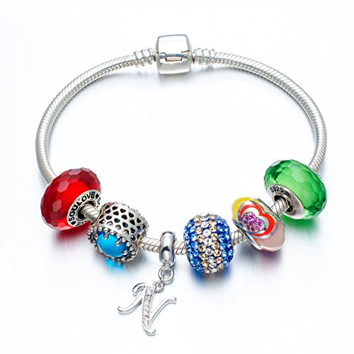 Buy silver letter beads