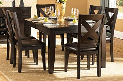 7 piece dining room set counter height homelegance crown point piece dining room set in merlot amazoncom