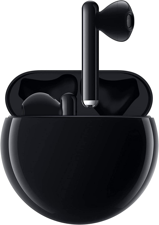 HUAWEI FreeBuds 3 - Auriculares inalámbricos con cancelación de Ruido Activa (Chip Kirin A1, Baja latencia, conexión Bluetooth ultrarrápida, Altavoz de 14 mm, Carga inalámbrica), Color Negro