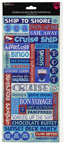 Sandylion Cruise Words Paper with Glitter Sticker, 5.5-Inch by (Cruise Scrapbooking)