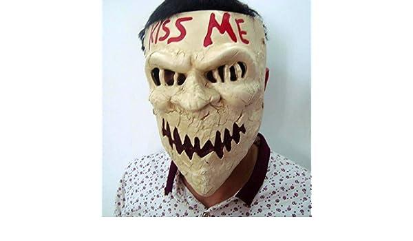 Amazon.com: Gmasking Resin Election Horror New Year Kiss Me ...