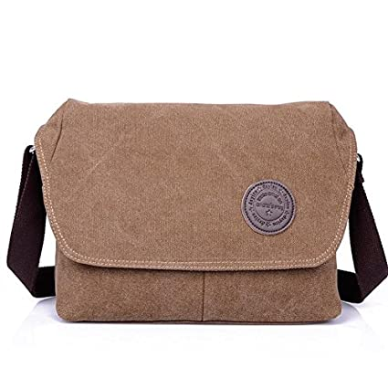 Buy Genric army green   DXYIZU new canvas bag casual fashion bags wholesale  man bag diagonal package retro Messenger Bag Online at Low Prices in India  ... 28c7bb0adf