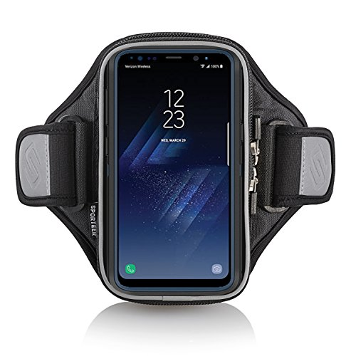 Sporteer Entropy E8 Modular Armband for iPhone 8 Plus, 7 Plus, Galaxy Note 8, Galaxy S8, S8 Plus, Pixel XL, LG G6, LG V30, Moto X4, G5S Plus, Nexus 6P, Xperia XZ, and Other Phones/Cases (M/L Straps) by Sporteer (Image #2)