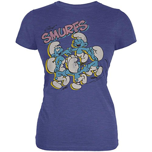 Smurfs - Dancing Juniors T-Shirt - X-Large