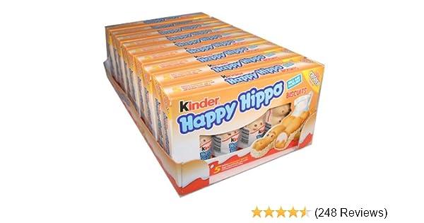 Amazon.com : Kinder Happy Hippo - Hazelnut, CASE, 10x(20.7 ...