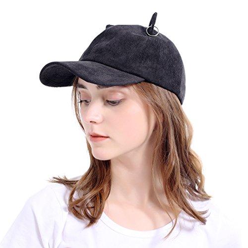 LeucosTicte Adjustable Girl Cat Ears Cap Lovely Baseball Sun Hats for Women