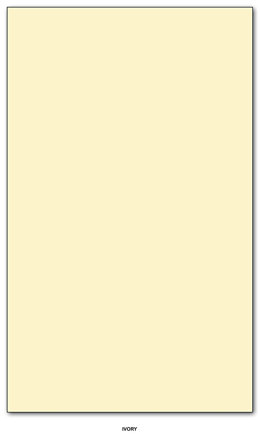Card / Cover Stock 67lb. Size 8.5 X 14 Legal / Menu Size - 250 Per Pack (Ivory)