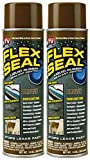 Flex Seal Spray Rubber Sealant Coating, 14-oz, Brown (2 Pack)