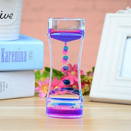 Floating Liquid Motion Timer, Color Mix Illusion Visual Slim liquid Oil Acrylic Hourglass Timer Clock Ornament - Executive Acrylic Award