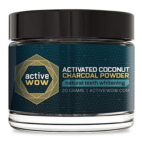 Active Wow Teeth Whitening Charcoal Powder Natural -