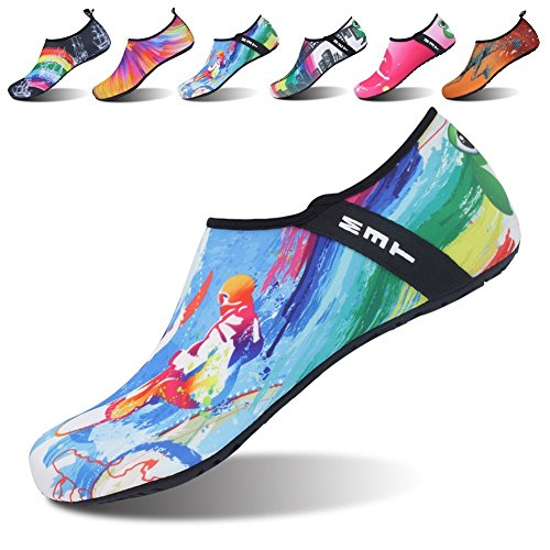 Price comparison product image Barefoot Quick-Dry Womens Sports Water Shoes Aqua Socks for Mens Beach Swim Surf Yoga Exercise Surfer