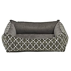well-wreapped Oslo Ortho Dog Bed in Graphite Lattice (Small: 29 in. L x 23 in. W x 8.5 in. H)