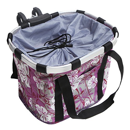 - MyGift Multi Purpose Purple Bicycle Basket Carrier/Car Organizer with Drawstring Closure & Top Handles