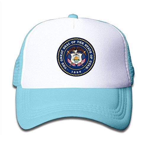 Shadidi Kid's Utah State Flag.png Cool Adjustable Casual Mesh Baseball Cap Trucker Hat