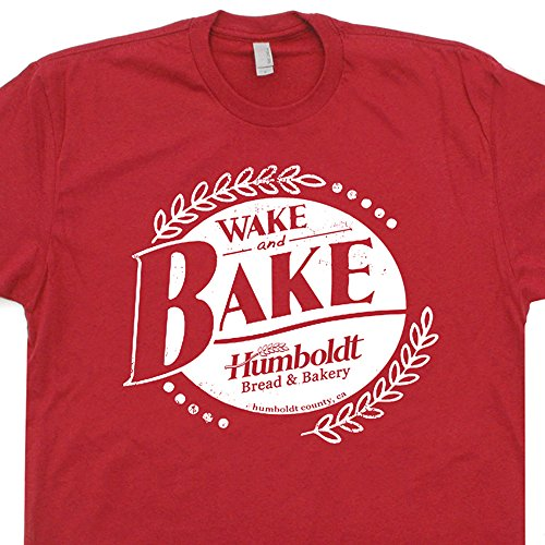 Wake-and-Bake-T-Shirt-Marijuana-Shirts-Pot-Logo-Dazed-and-Confused-Funny-420-Weed-Mens-Womens-Tees-Shirtmandude