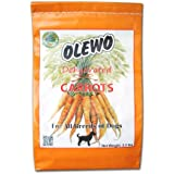 Olewo Carrots Digestive Dog Food Supplement, effective dog diarrhea relief for over 35 years, adds natural source vitamins to any dog food to promote overall health, 1-ingredient, non-GMO product, Made in Germany, 2.2 Pounds