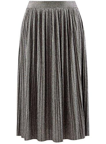 Collection Plisse oodji Femme Jupe Argent 2991x Midi 6Tdr8dnWqv