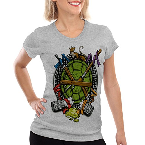 style3 Tortuga Ninja Camiseta para Mujer T-Shirt Mutantes ...