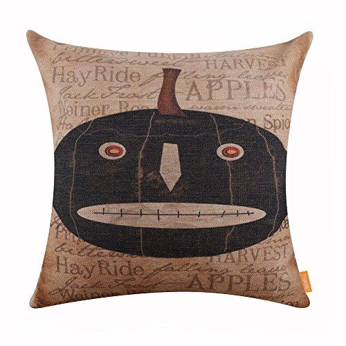 LINKWELL 45x45cm Halloween All Hallows Eve Lantern Pumpkin Skull Cushion Covers Pillow Cases Kid Decor