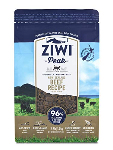 Ziwi Peak Air-Dried Beef Recipe Cat Food (2.2lb) (Whats The Best Food For Dogs)