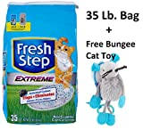 Fresh Step Extreme Clay, Non Clumping Cat Litter, Scented (2 - 35 Lb. Bag + Free Toy)