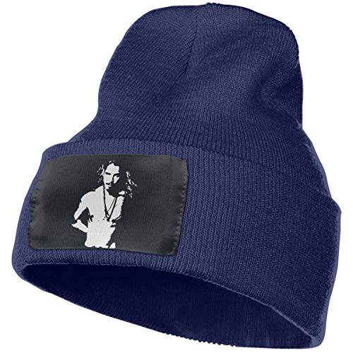 Kangtians Kxosdknfz Men&Women Chris Cornell Topless Graphic Cuffed Beanie Hat Skull Knit Hat Snowboard Hat for Men and Women Navy