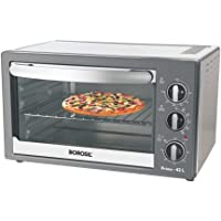 Borosil Prima 42 L OTG, with Motorised Rotisserie and Convection, 2000 W, 6 Stage Heating Function, Silver