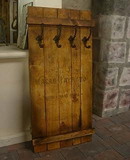 Alte Tür Als Garderobe artland wand garderobe mit motiv 3 holz paneele mit gusseisernen