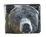 Shagwear Great Outdoors Men's Bifold Wallets (Portrait of a Bear)