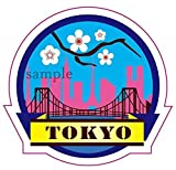Travel Sticker ''TOKYO 東京 JAPAN 日本'' Made of Waterproof Paper (JAPAN import)