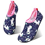 hiitave Girls Swim Water Shoes Non-Slip Quick Dry Barefoot Beach Aqua Pool Socks for Boys Kids Toddler Pupple/Unicorn 9-10 M US Toddler: more info