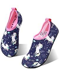 Kids Water Shoes Non-Slip Quick Dry Swim Barefoot Beach Aqua Pool Socks for Boys & Girls Toddler