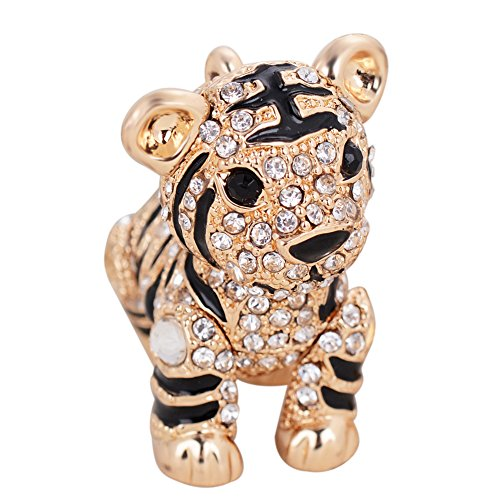 Lovely Rhinestone Exquisite Animal Little Tiger Keychain Charm
