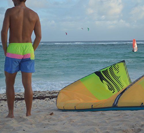 2bf326aa26 Cutters Apparel Men's Retro Swim Trunks Surf Board Shorts with Mesh Lining  - South Point,