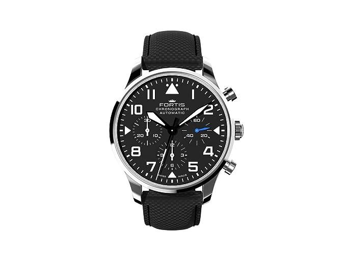 Reloj Automático Fortis Pilot Classic Chronograph, DD2020, 41mm, Correa de piel