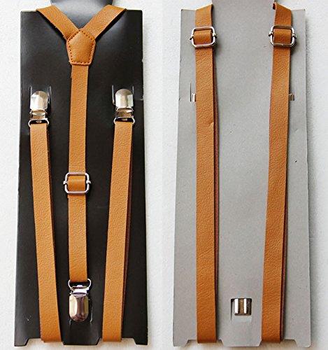 Mens Suspenders Ladies Adjustable Leather