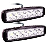 ATNEC LED Light Bar 2x 18W Spot Work Light Strip, Jeep Off-road Light Bar, Driving Fog Lights IP67 Waterproof for Off-road, Truck, Car, ATV, SUV, Jeep