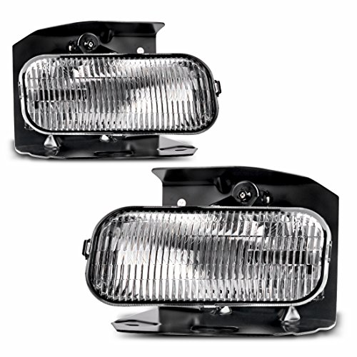 Fog Lights For Ford F150 F250 1999-2004 (XL,XLT Lariat Model Without STX ED) Ford Expedition 1999-2002 (XL, XLT Lariat Model Without STX Edition) (OE Style Clear Lens w/ H10 12V 42W Bulbs)