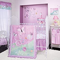 Lambs & Ivy Crib Bedding Set, Kaleidoscope, Girl's 4 Piece Bedding Set