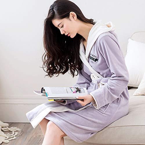 Cómodo color Conveniente Púrpura Simple Luz Xl De Pijamas Liruipengsy Tamaño Pijamas Albornoz Hogar Larga Gwdj Largo Ropa Capucha El Espesar Ocio Con Manga Para Mujer Invierno Púrpura Medio Sexy gRxpvxfwq