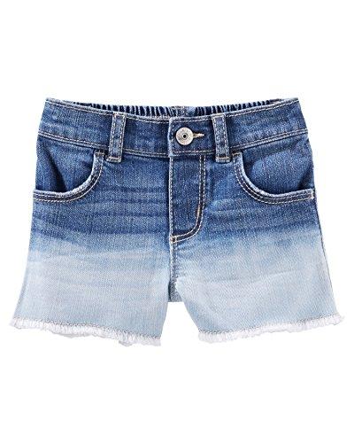 (OshKosh B'Gosh Baby Girls' Dip-Dyed Denim Shorts, 6 Months )