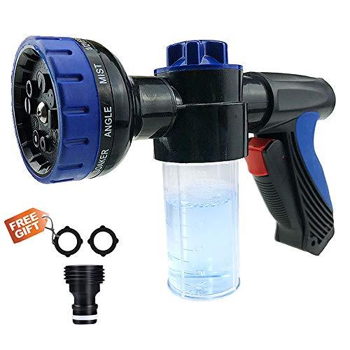 Malocaos Garden Hose Nozzle Foam Sprayer High Pressure Adjustable Snow Soap Car Washer Water Sprayer Gun Kit, Cleaning Cannon, 8 adjustable ()