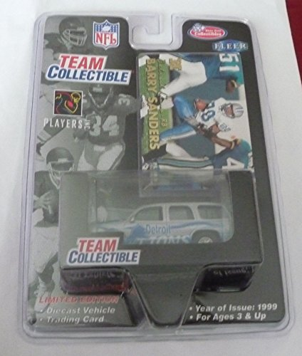 1999 Barry Sanders Detroit Lions GMC Yukon White Rose Fleer Collectible Diecast