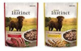 Nature's Variety Instinct Healthy Cravings Grain-Free Meal Topper for Dogs Variety Pack, 2 Flavors (Chicken & Beef), 3 oz Pouch, 12 Total Pouches (12)